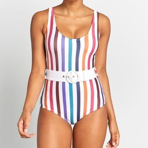 NEW Modcloth | Belted One Piece Swimsuit
